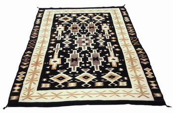 American Indian  6' to 8', navajo, two grey hills, weavings  Navajo Two Gray Hills; Tapestry Quality