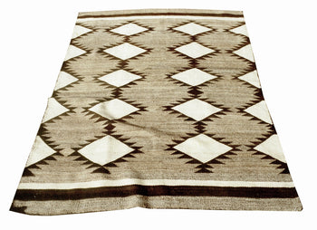 American Indian  6' to 8', blankets, navajo, weavings  Natural Transitional Blanket