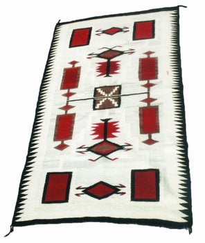 American Indian  6' to 8', j.b. moore, navajo, storms, weavings  Navajo J.B. Moore Storm