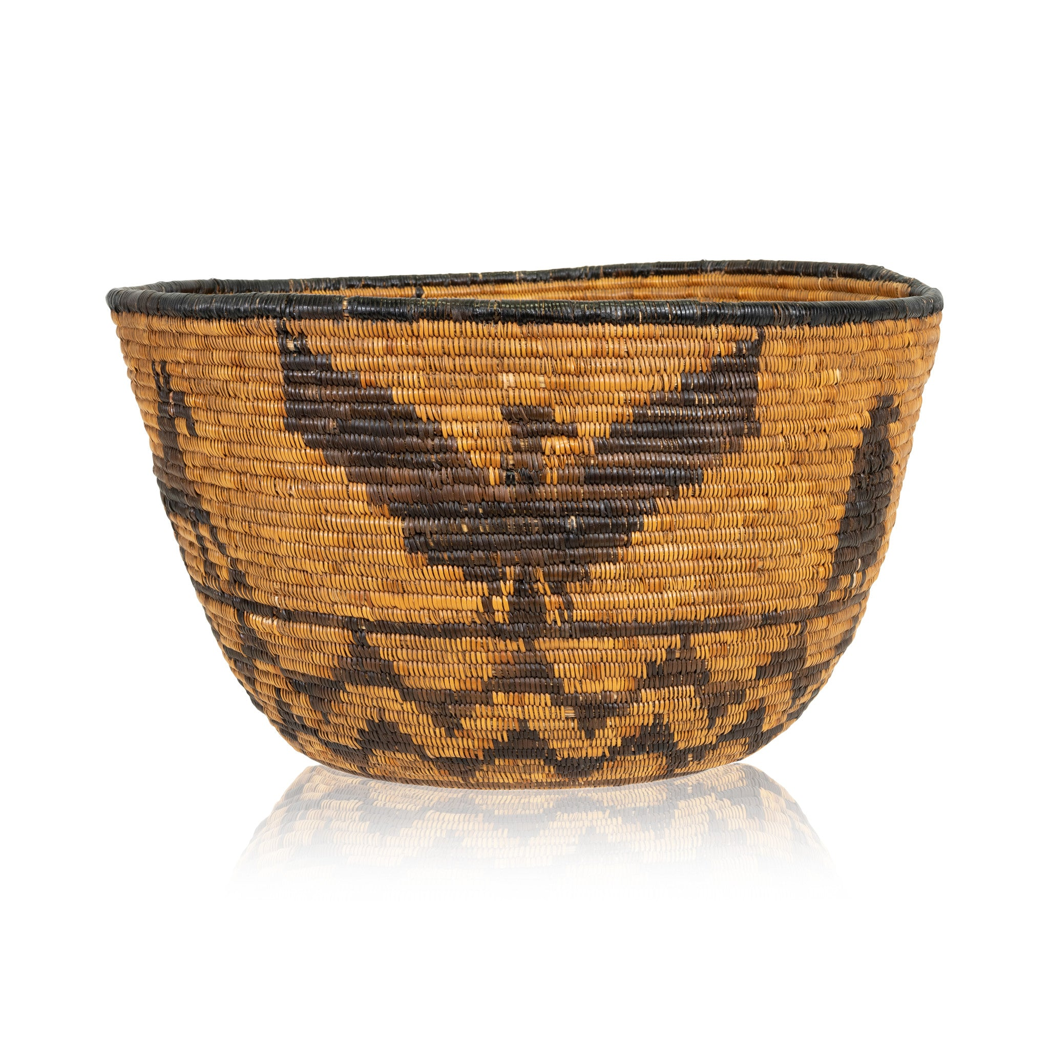 Mission Pictorial Basket baskets, eagles, horses-native american, mission