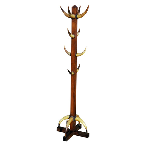 Longhorn Hall Tree hat racks, horn furniture