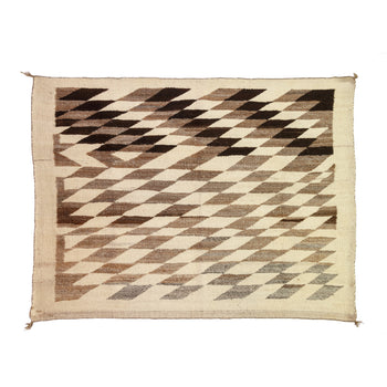 American Indian  4' to 6', blankets, navajo, weavings  Navajo Wearing blanket style; handspun.