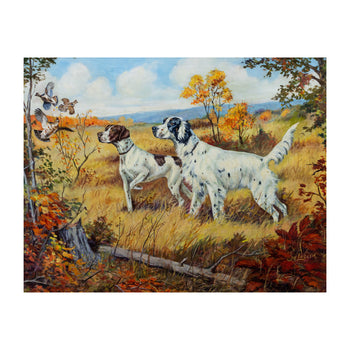 Fine Art  advertising, calendar prints, murphy calendar co., new item, oil paintings, ole larsen, paintings  Flush by Ole Larsen