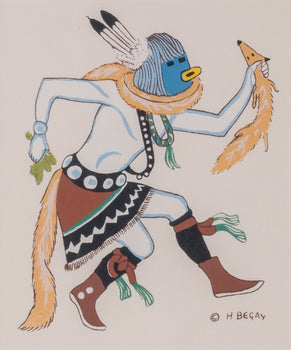 Fine Art  fine art other, fine art: painting: native american, harrison begay, native, sale item, silk screen paintings  Hopi Snake Dance By Harrison (Haskay Yahne Yah) Begay