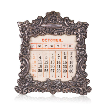 Lodge Furnishings  baldwin & gleason, calendars, other, silver, victorian  Victorian Perpetual Calendar