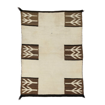 American Indian  1' to 4', double saddles, naturals, weavings  Natural Double Saddle Blanket