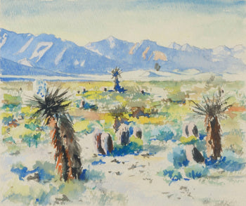 Fine Art  paintings, paintings-landscape, paul connor, watercolor  Desert Shadows by Paul Connor