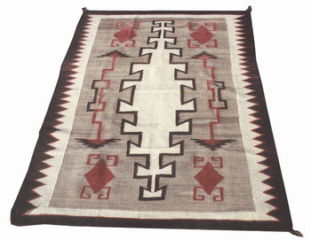 American Indian  4' to 6', crystals, navajo, rugs, weavings  Navajo Crystal with Stylized Arrows