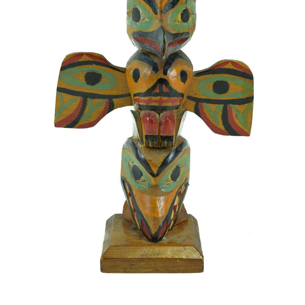 Northwest Coast Winged Cedar Totem