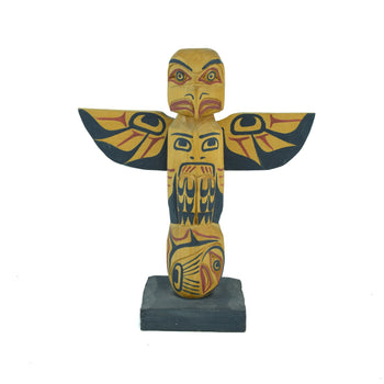 American Indian  < 1', carvings, sequilem, totems  Northwest Winged Cedar Totem