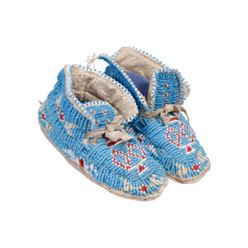 American Indian  baby moccasins, beadwork, cheyenne, child's moccasins, moccasins  Cheyenne Baby Moccasins