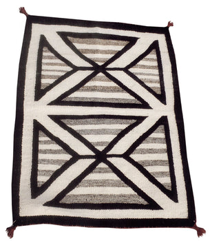 American Indian  1' to 4', double saddles, navajo, weavings  Navajo Double Saddle Blanket