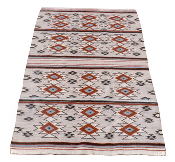 American Indian  4' to 6', blankets, crystals, navajo, weavings  Crystal Lady's Wearing Blanket