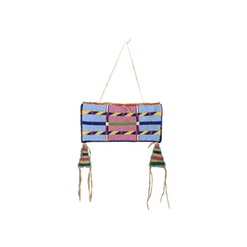 American Indian  crow, plains, pouches  Crow Pouch with Triangle Drops