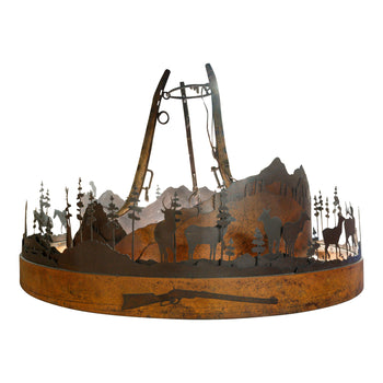Lodge Furnishings  lighting, sam's pick  Rustic Hanging Lamp