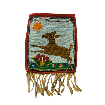 American Indian  beadwork, flat bags, yakama  Yakama Pictorial Flat Bag