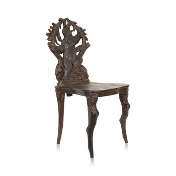 Special Collections  bears, black forest, brienz collection, carvings, chairs, new item, seating, swiss  Black Forest Carved Bear Chair