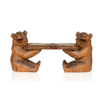 Special Collections  bears, black forest, brienz collection, carvings, stools  Black Forest Bear Stool