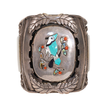 Jewelry  abalone, birds, cuffs, mother of pearl, new item, onyx, turquoise, zuni  Large Zuni Cuff