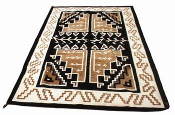 American Indian  navajo, pictorial, two gray hills, weavings  Navajo Two Gray Hills