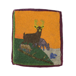 Flat Bag with Deer Pictorial
