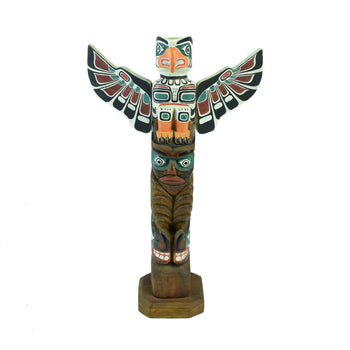 American Indian  1' to 3', carvings, northwest, totems  Northwest Coast Winged Cedar Totem
