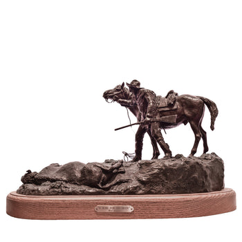 Fine Art  a robe for his bride, caa, cowboy artists of america, fine art: bronze: limited, limited bronzes, robert scriver