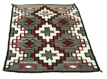 American Indian  6' to 8', navajo, pictorials, water bugs, weavings  Navajo Crystal
