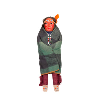 American Indian  dolls, skookums  Male Skookum Doll