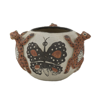 American Indian  butterflies, frogs, laguna, pottery, pottery-historic, southwest  Laguna Bowl