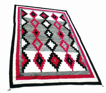 American Indian  6' to 8', ganados, navajo, rugs, weavings  Navajo Ganado