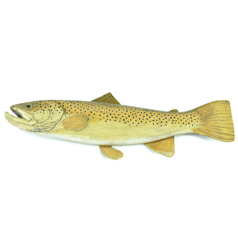 Brown Trout Carving carvings, trout