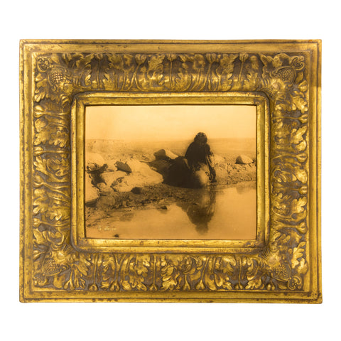 """Hopi Mirror"" Gold Tone Photograph carl moon, gold tone, photo"