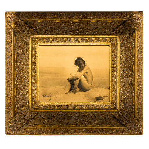 """Last of His People"" Gold Tone Photograph carl moon, gold tone, photo"