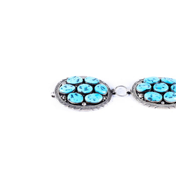 Jewelry  belts, conchos, link, navajo, sleeping beauty, southwest, turquoise  Navajo Sleeping Beauty Link Concho Belt