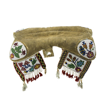 American Indian  american indian saddles, american indian: horse gear: saddle, beadwork, cree, horse gear, saddles  Cree Pad Saddle