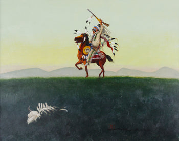 Fine Art  acrylic, fine art: painting: native american, mario rabago, native, nez perce, paintings