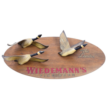 Sporting Goods  canada geese, hunting, trade signs, waterfowl, wiedemann's  Wiedemann's Fine Beer Trade Sign