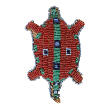 American Indian  beadwork, fetishes, sioux, turtles, umbilical fetishes  Sioux Fetish