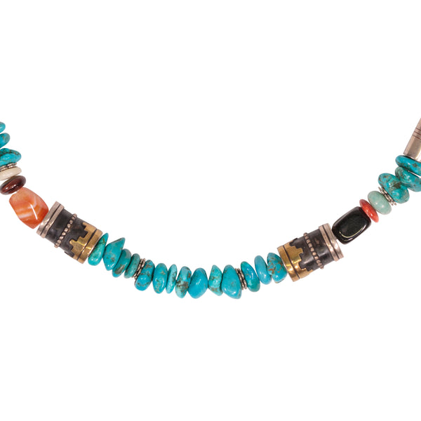 Navajo Multi-Stone Necklace by Tommy Singer