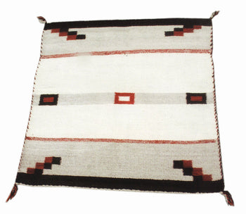 American Indian  navajo, single saddles, weavings  Single Saddle with Building Blocks in Corners