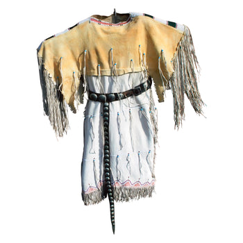 American Indian  cheyenne, dresses, plains  Cheyenne Dress with Yellow Ochre