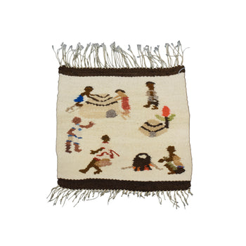 American Indian  1' to 4', american indian: weaving: navajo, blankets, mexico, pictorials, sale item, weavings  Mexican Pictorial Weaving