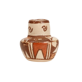 American Indian  hopi, jars, miniatures, pottery, pottery-historic  Hopi Miniature Jar