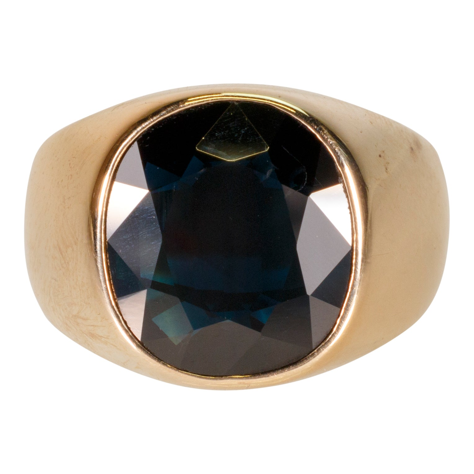 Deep Sapphire Ring gold, men, men's jewelry, rings, sapphire