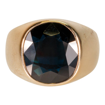 Jewelry  gold, men, men's jewelry, rings, sapphire  Deep Sapphire Ring