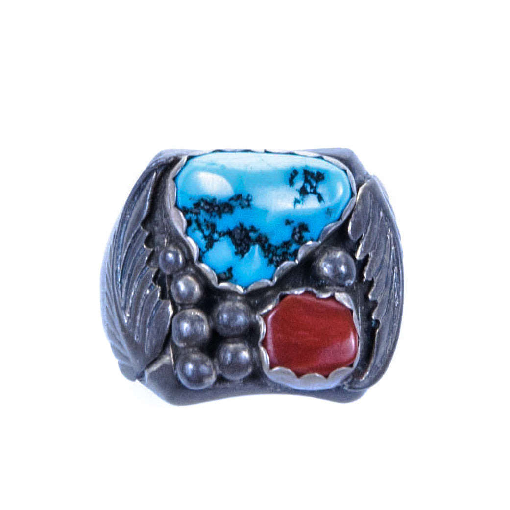 Navajo Ring coral, navajo, old pawn, rings, southwest, turquoise