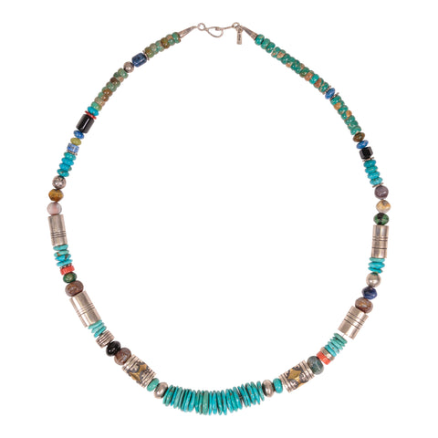 Tommy Singer Multi-Stone Necklace navajo, necklace, tommy singer, turquoise