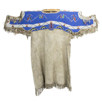 American Indian  beaded capes, native  Sky Blue
