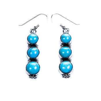 Jewelry  earrings, navajo, southwest, turquoise  Navajo Three-Bead Earrings